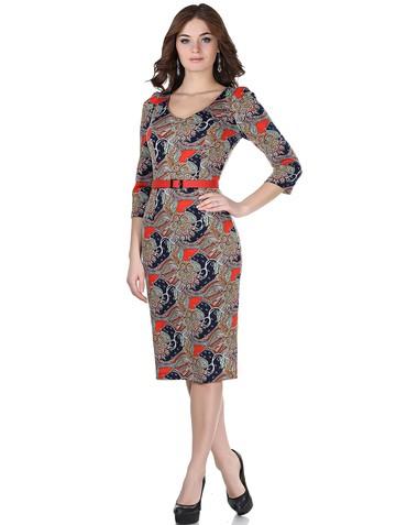Платье berkano, цвет сине-красный