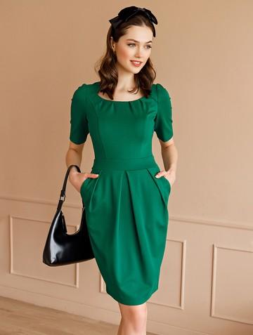 Платье kesly, цвет изумрудный