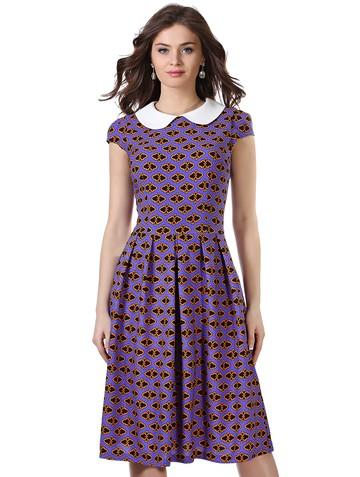 Платье lala, цвет фиолетово-оранж