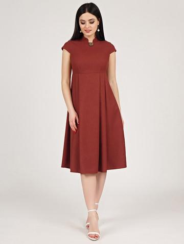 Платье maru, цвет терракотовый