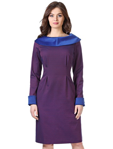 Платье karea, цвет сине-малиновый