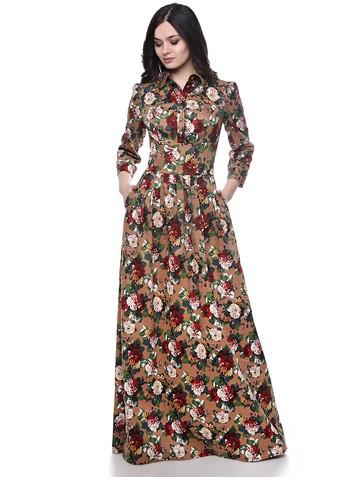 Платье elvira, цвет кофейно-терракот