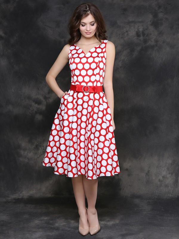 5ff7ceee15d Купить Платье darkly горошек на красном в Москве по цене 4295.0 руб ...