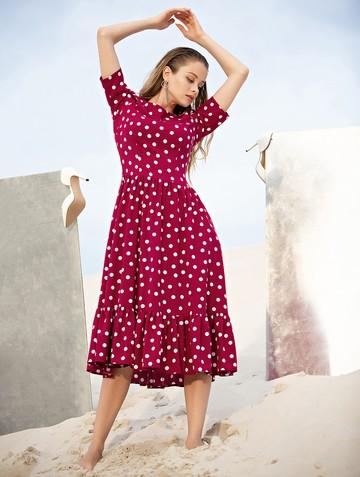 Платье tramby, цвет бордовый