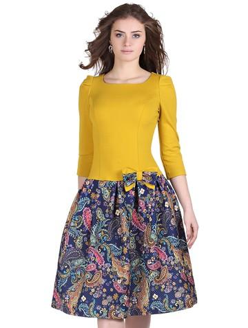 Платье lok, цвет сине-желтый