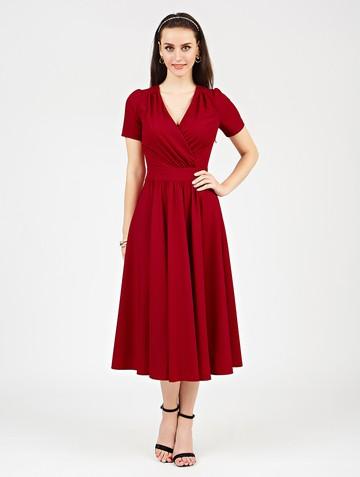 Платье atery, цвет гранатовый