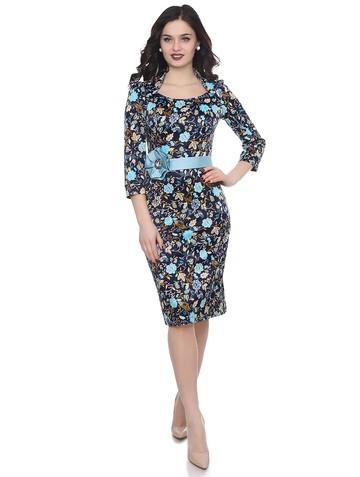 Платье latifa, цвет сине-бирюзовый