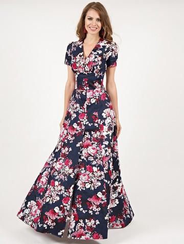 Платье mervin, цвет сине-малиновый