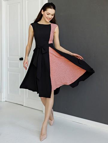 Платье rashy, цвет черно-розовый