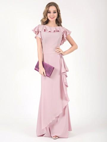 Платье edjy, цвет розовый