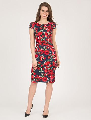 Платье manuella, цвет сине-красный