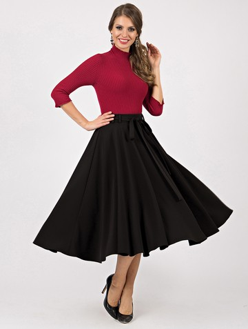 Юбка karima, цвет черный
