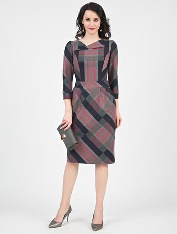 Платье malvina, цвет серый