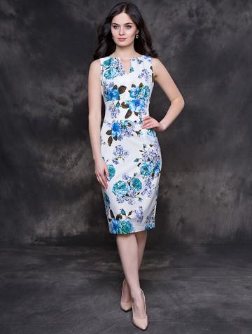 Платье issol, цвет молочно-синий