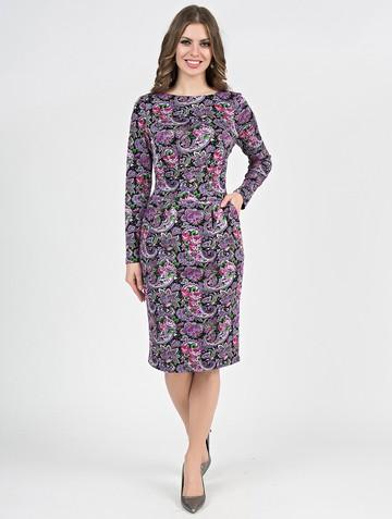 Платье parisa, цвет черно-розовый