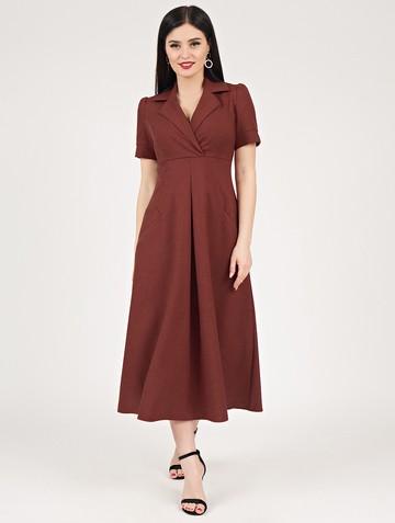 Платье lourdes, цвет терракотовый