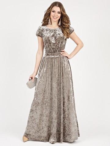 Платье veridy, цвет серо-бежевый