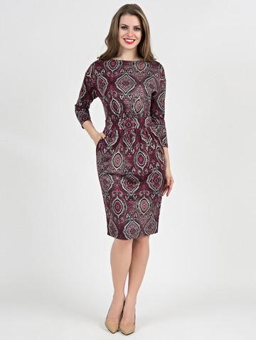 Платье dilara, цвет черно-бордовый