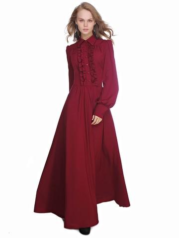 Платье viva, цвет бордовый
