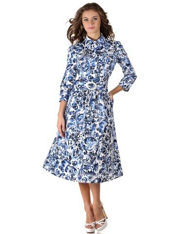 Платье rebeka, цвет бело-голубой