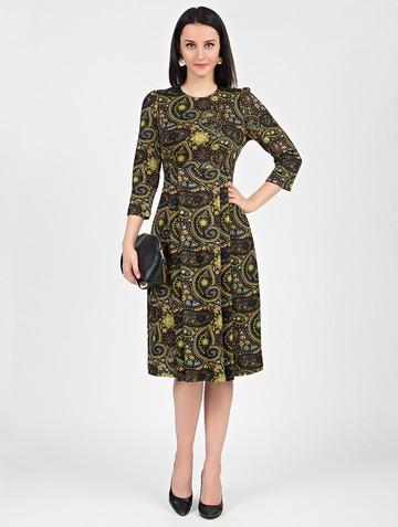 Платье elsy, цвет черно-желтый