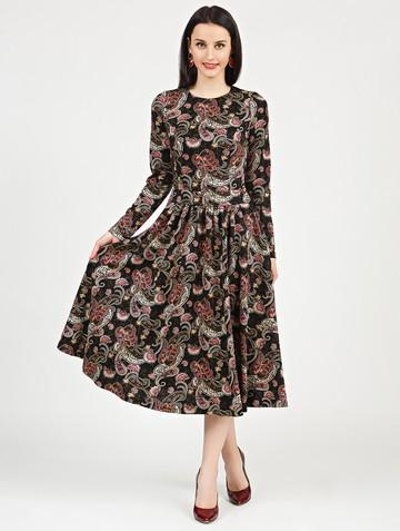 Платье daria, цвет черно-песочный