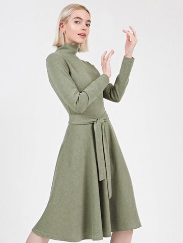 Платье lady, цвет хаки
