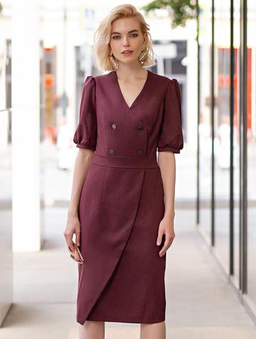 Платье teofania, цвет бордовый