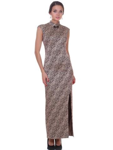 Платье satiny, цвет шоколад-золото