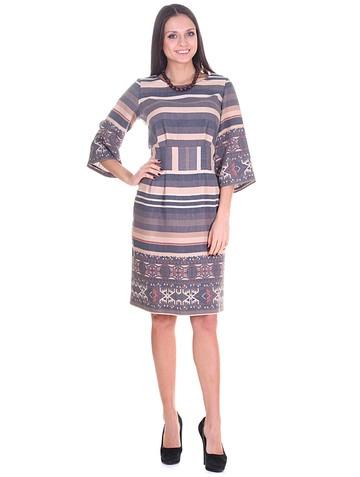 Платье kariny, цвет этно беж с терракотом
