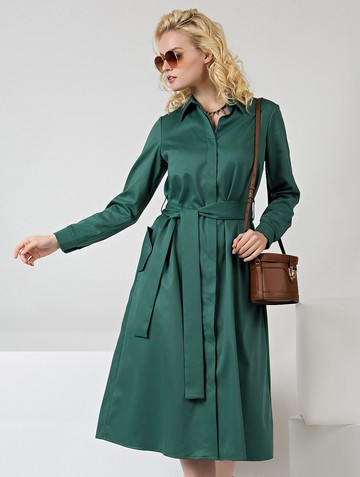 Платье nelly, цвет изумрудный