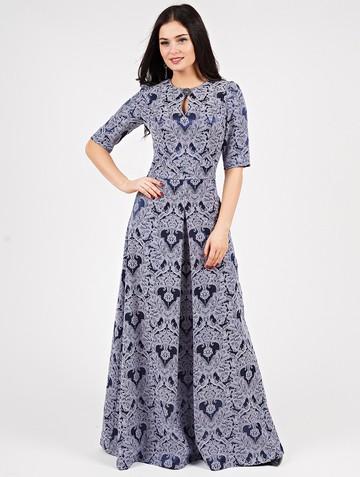 Платье peretta, цвет сине-сиреневый