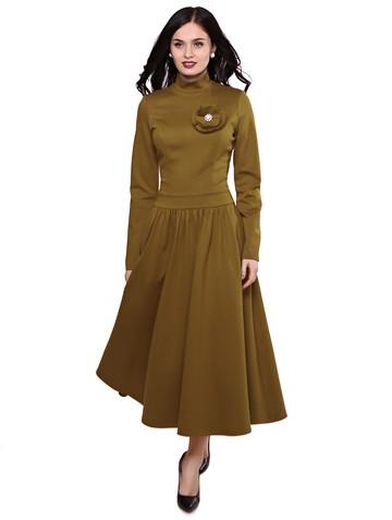 Платье zarima, цвет горчичный