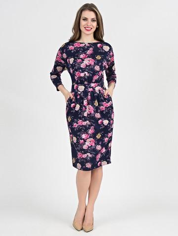 Платье dilara, цвет сине-розовый