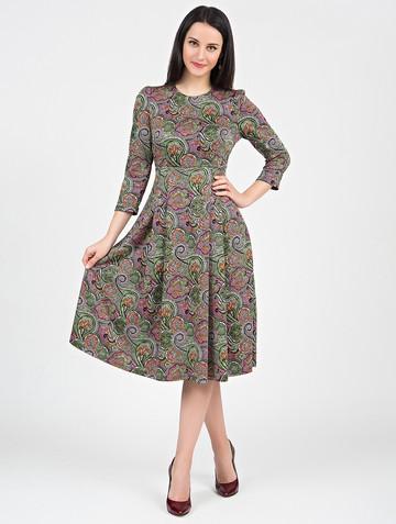 Платье elsy, цвет зелено-розовый