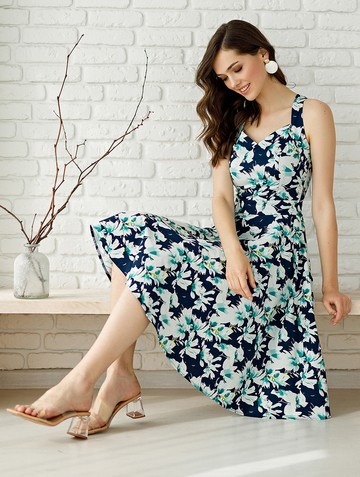Платье adella, цвет сине-бирюзовый