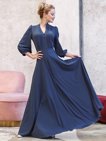 Платье miroslava, цвет индиго