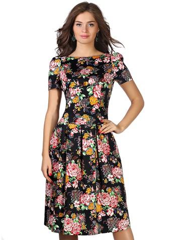 Платье limardjy, цвет черно-розовый