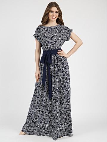 Платье tayva, цвет сине-молочный