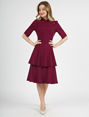 Платье lisipa, цвет бордовый