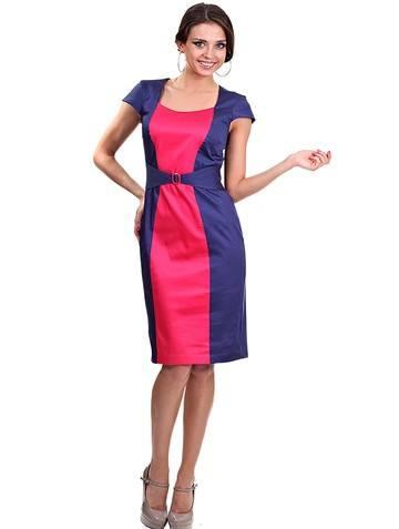 Платье alpina, цвет сине-красный