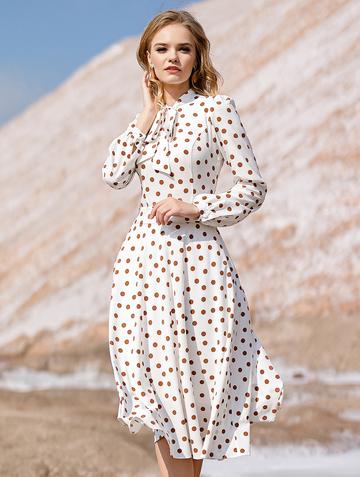 Платье djillia, цвет молочно-коричневый