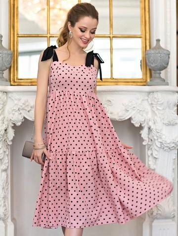 Платье mexy, цвет розово-черный