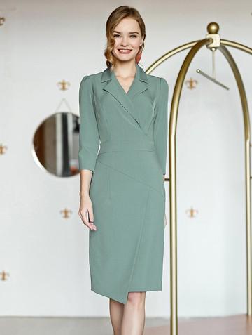 Платье normy, цвет серо-зеленый