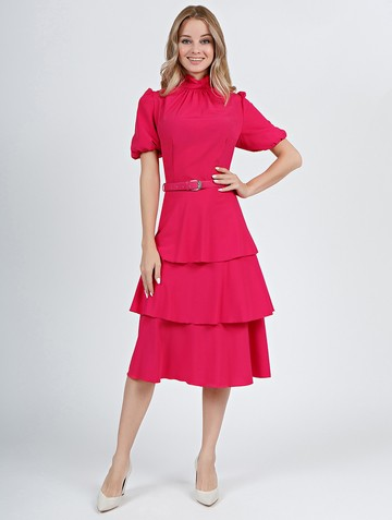 Платье malkony, цвет красно-малиновый