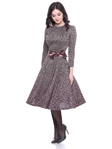 Платье atira, цвет бежево-бордовый