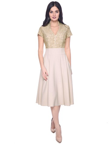 Платье demetra, цвет бежевый