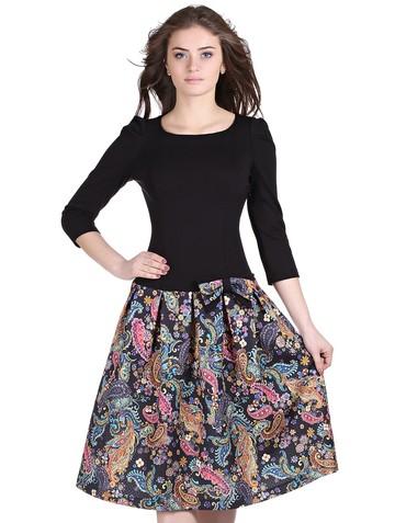 Платье lok, цвет черно-желтый