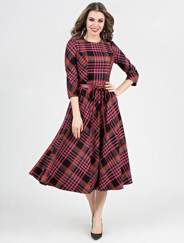 Платье traviata, цвет розово-черный