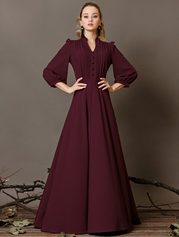 Платье miroslava, цвет бордовый